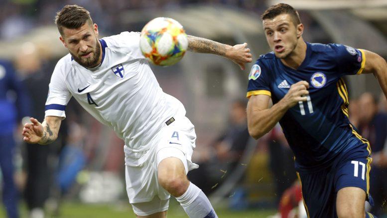 Huuhkajt hävisi Bosnialle 1-4.